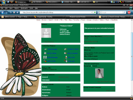 Butterfly Daisy Layout