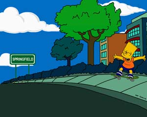 The Simpsons Layout