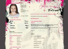 Pink Grey Scribbles Layout