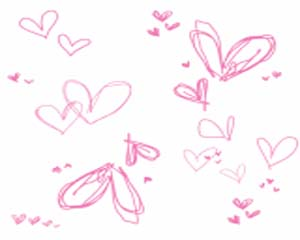 Pink Scribble Hearts Layout
