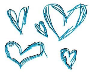 Scribble Hearts Layout