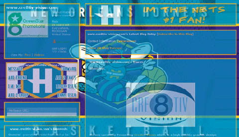 New Orleans Hornets Layout