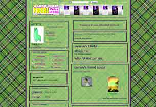 Green Plaid Layout