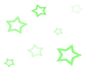 Green Scattered Stars Layout