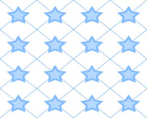 Star Fence Blue Layout