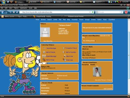 Myspace Layouts Sports 28