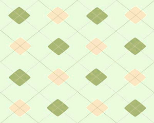 Argyle Green Coral Layout